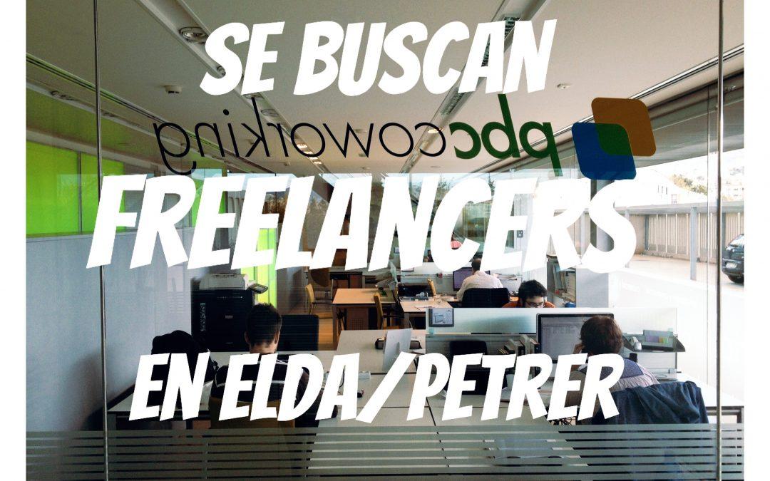 Se buscan freelancers en Elda y Petrer
