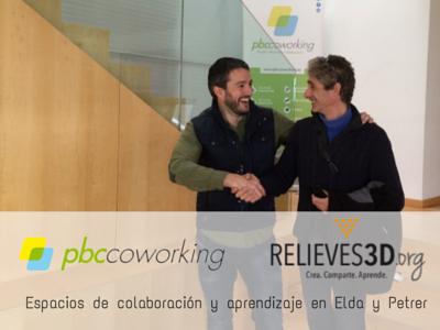Acuerdo de colaboración entre PBC Coworking y Relieves3D